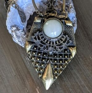Free People Boho Bohemian festival cage necklace